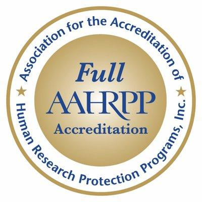 Full Accreditation Seal from AAHRPP
